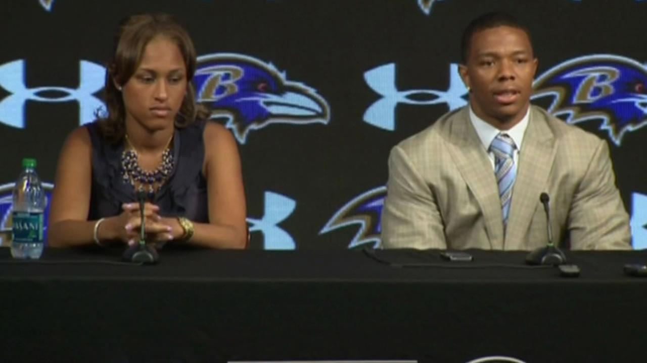 Ray Rice and his wife Janay Rice.