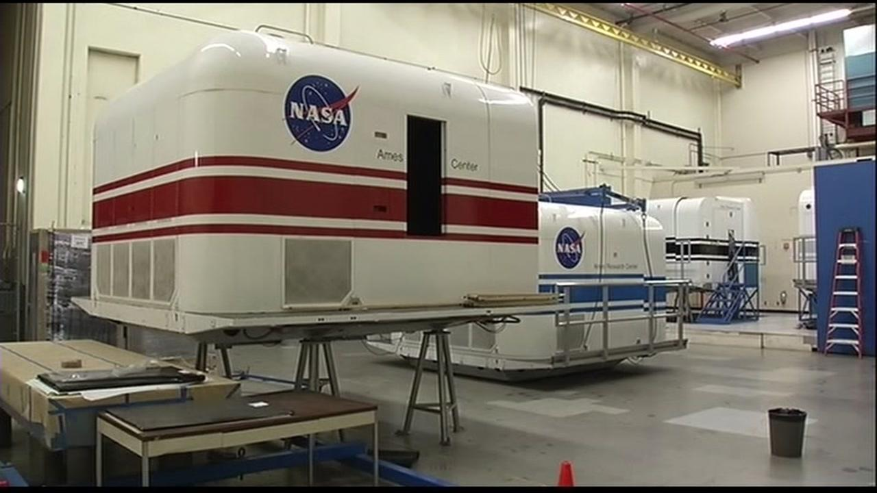 This is an undated image of NASA equipment in San Francisco.