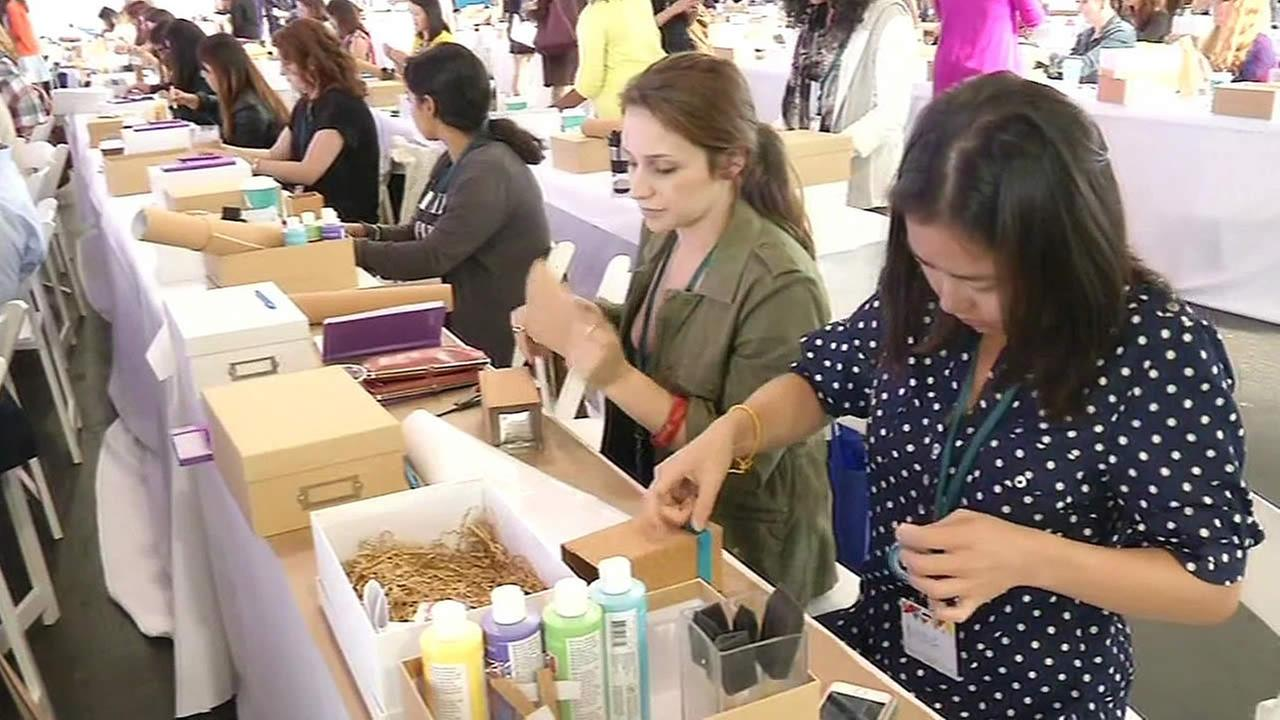 Women making crafts at the Re:Make festival