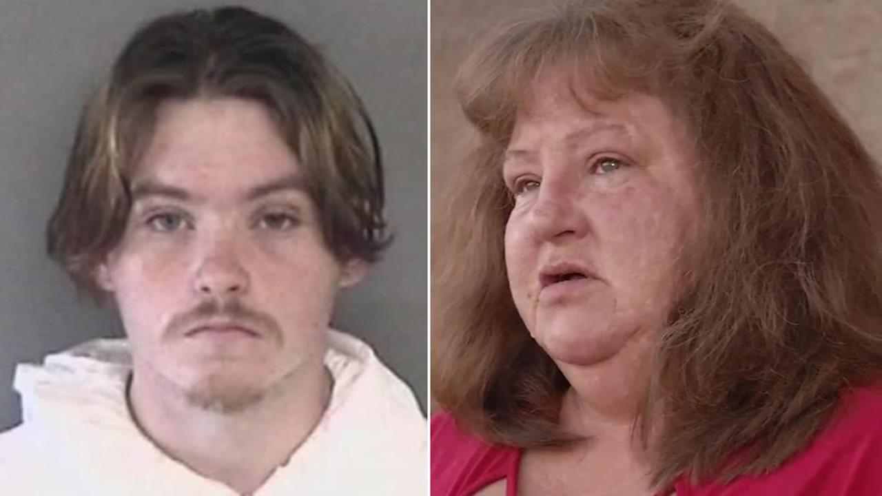 Suspect Daniel Gross is pictured on the left, and his mother, Tracy Gross, is pictured on Thursday, Feb. 15, 2018.