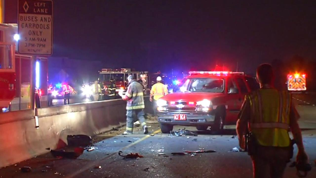EMT at scene of major injury crash in San Leandro on I-880.