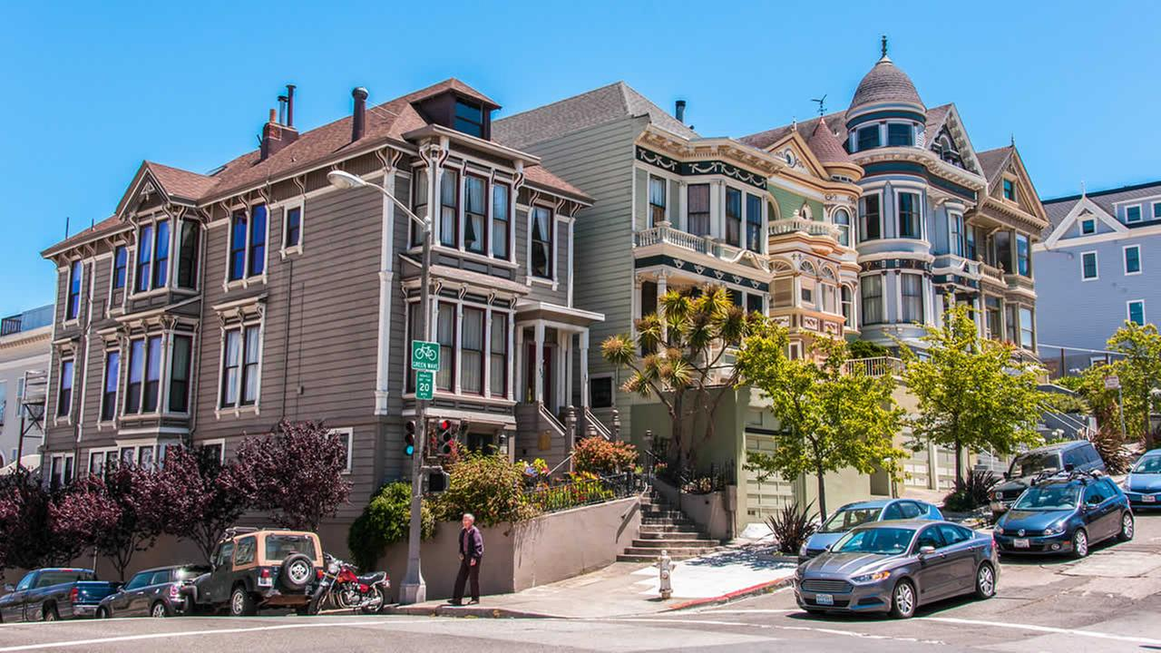 Classic Victorian houses are seen in San Francisco on June 18, 2014