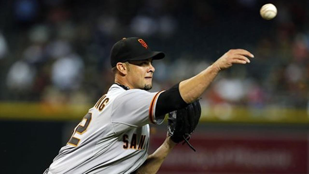 San Francisco Giants starting pitcher Ryan Vogelsong