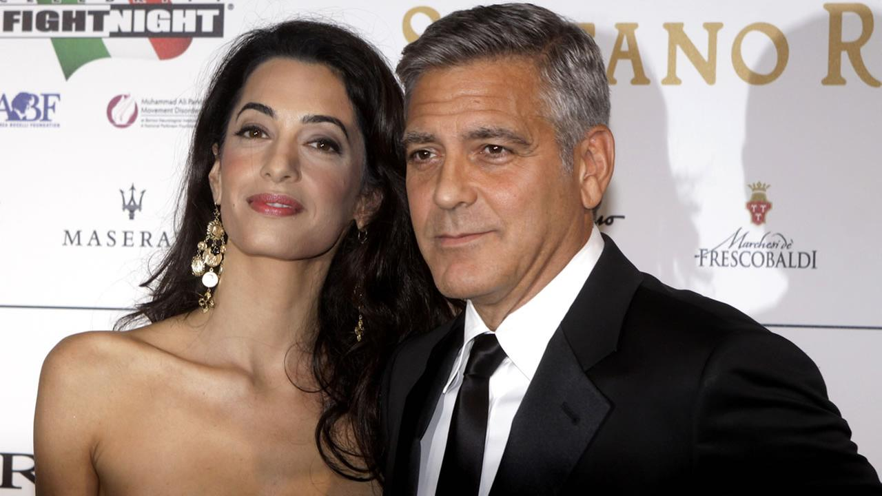 George Clooney and his fiancee Amal Alamuddin