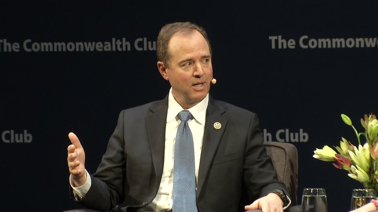 Adam Schiff speaks at San Franciscos Commonwealth Club on Tuesday, Feb. 20, 2018.