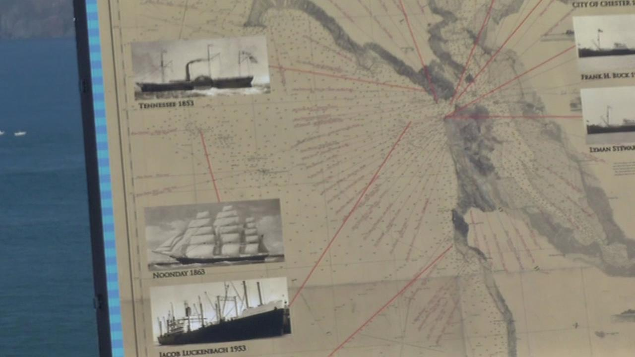 Shipwrecks that occurred just off the Bay Area