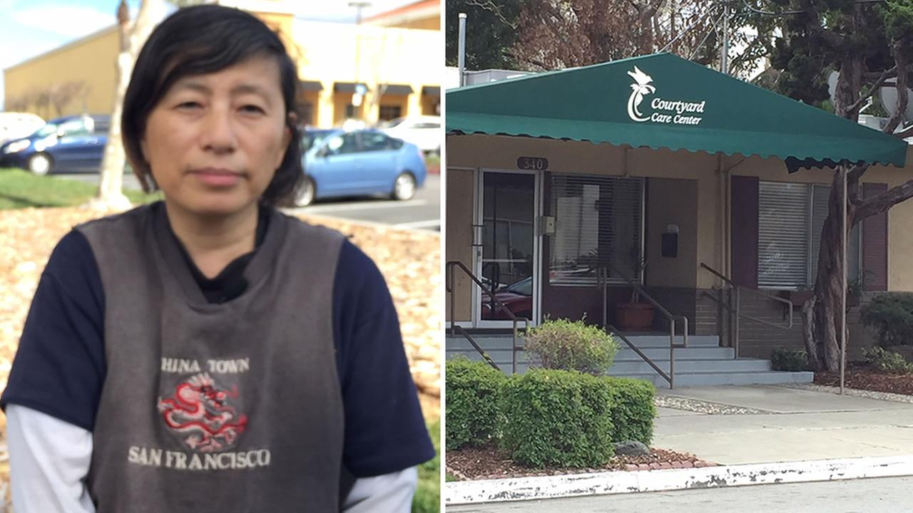 This image from Thursday, Feb. 22, 2018 shows Karen Mou of San Jose, Calif. Shes suing Courtyard Care Center, claiming she was a victim of patient dumping.