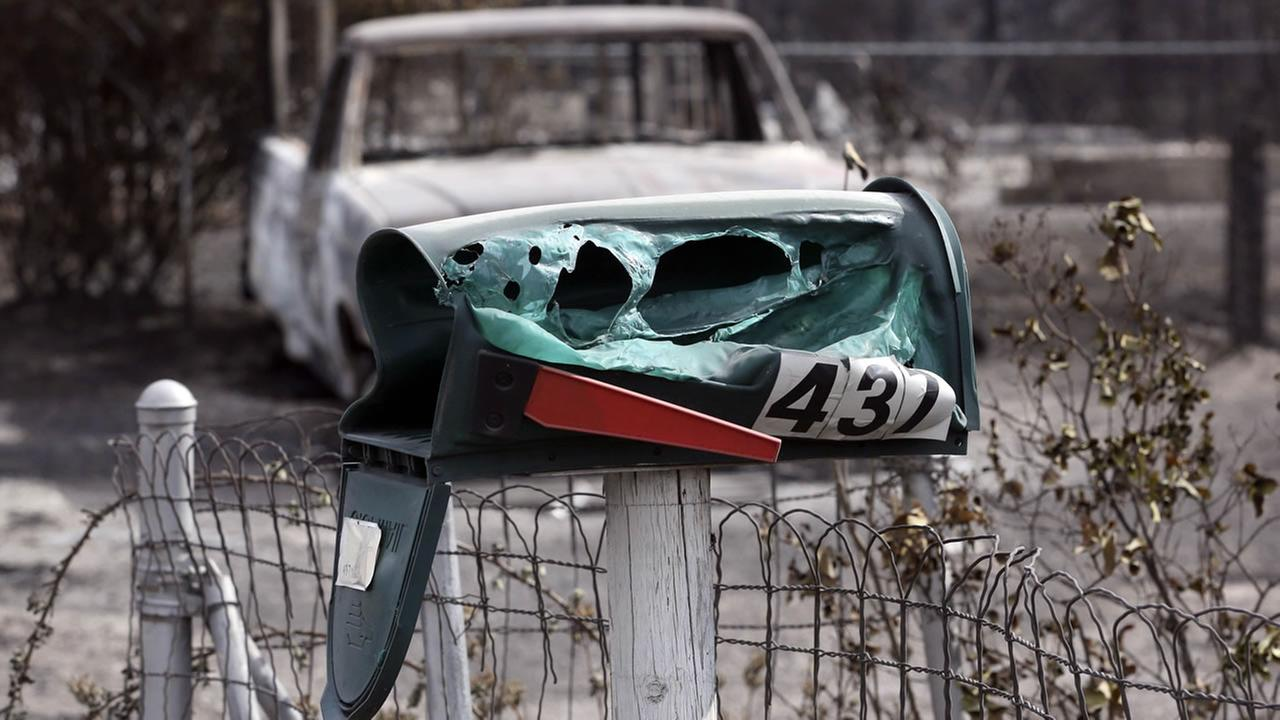 melted mailbox