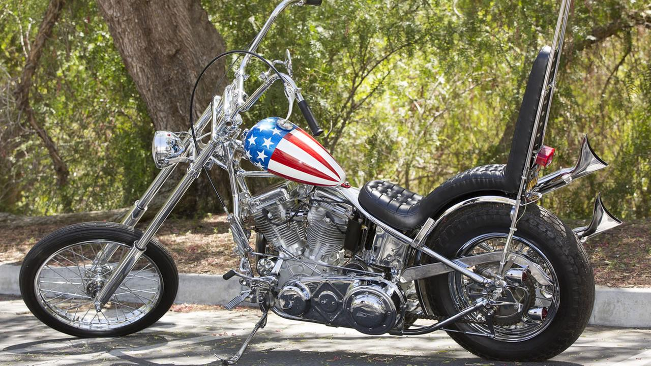 The Captain America chopper Peter Fonda rode in Easy Rider.