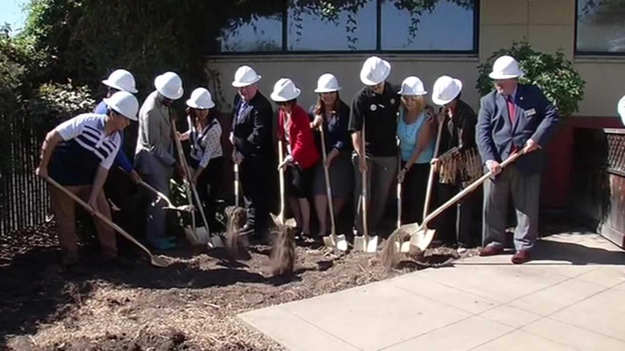 School officials in San Leandro shoveled dirt on Wednesday for a good cause -- a new school-based health center for students.