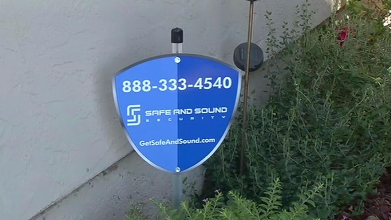 Safe and Sound Security sign in Napa