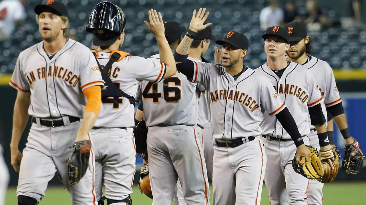 San Francisco Giants celebrate win