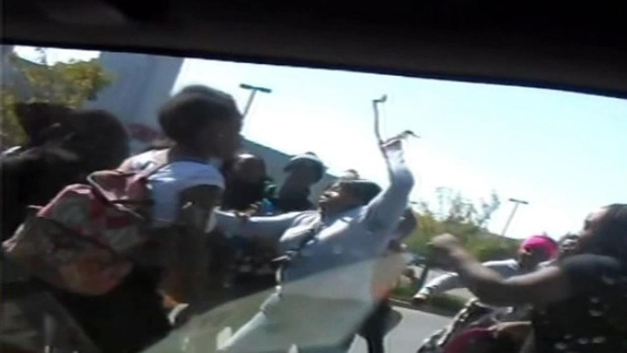 A cellphone video captured a brawl involving high school students outside an Antioch Taco Bell.