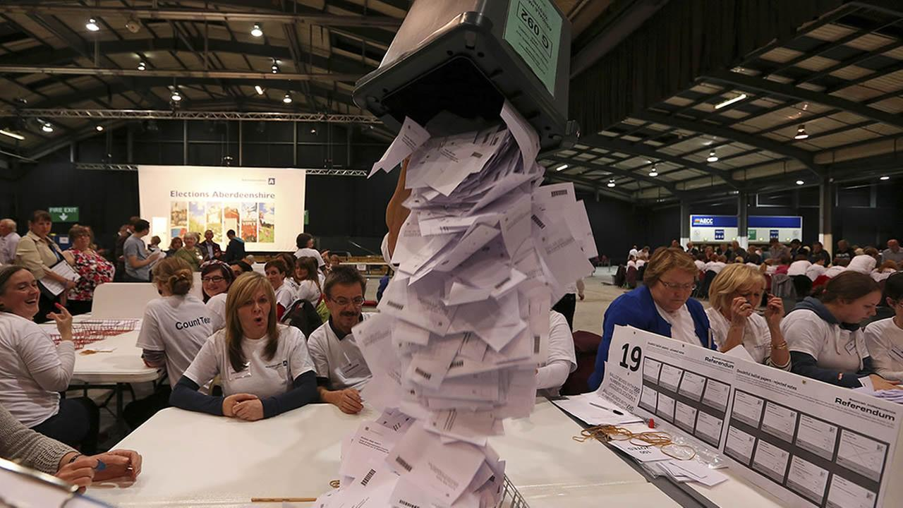 Ballot boxes in Scotland
