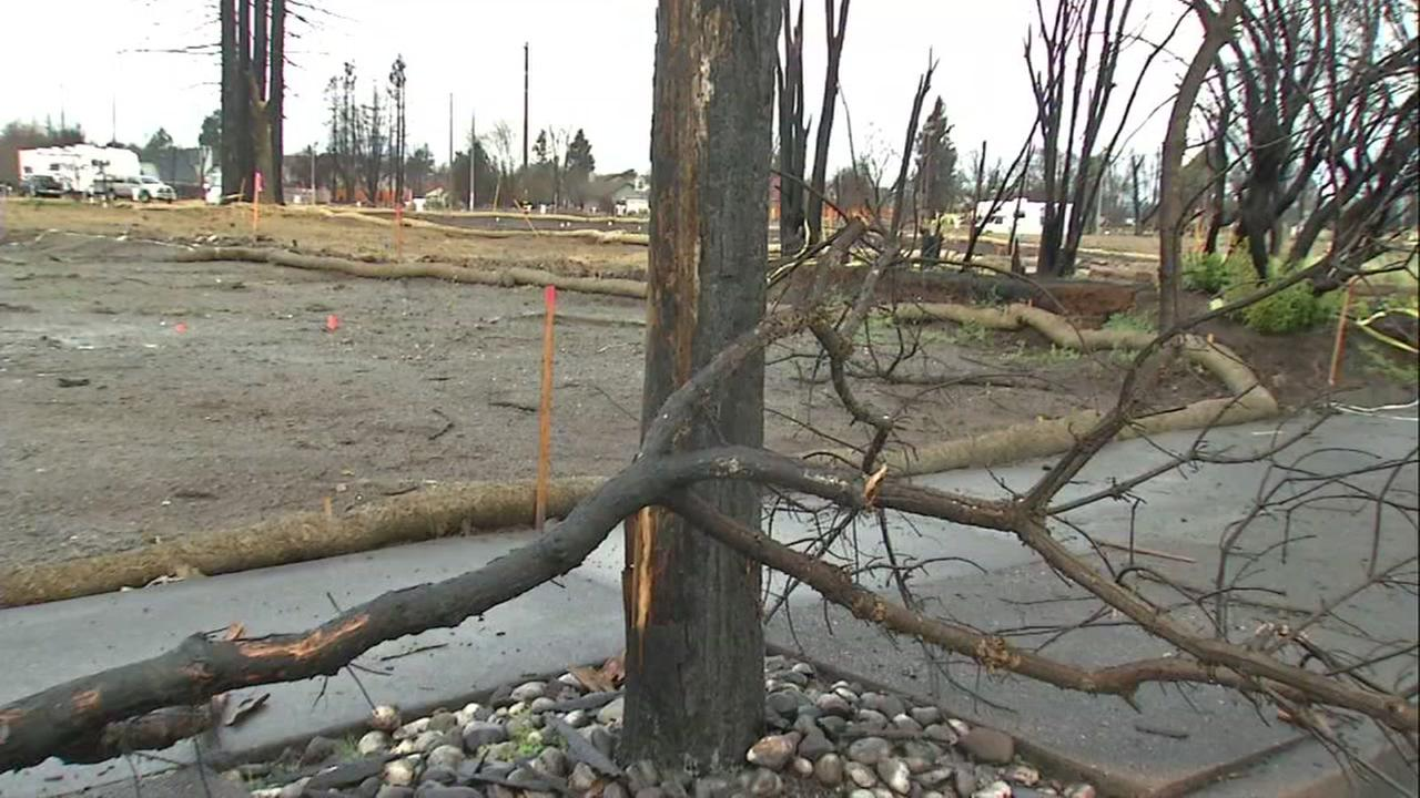 Storm damage in Santa Rosa, California on Thursday, March 1, 2018.
