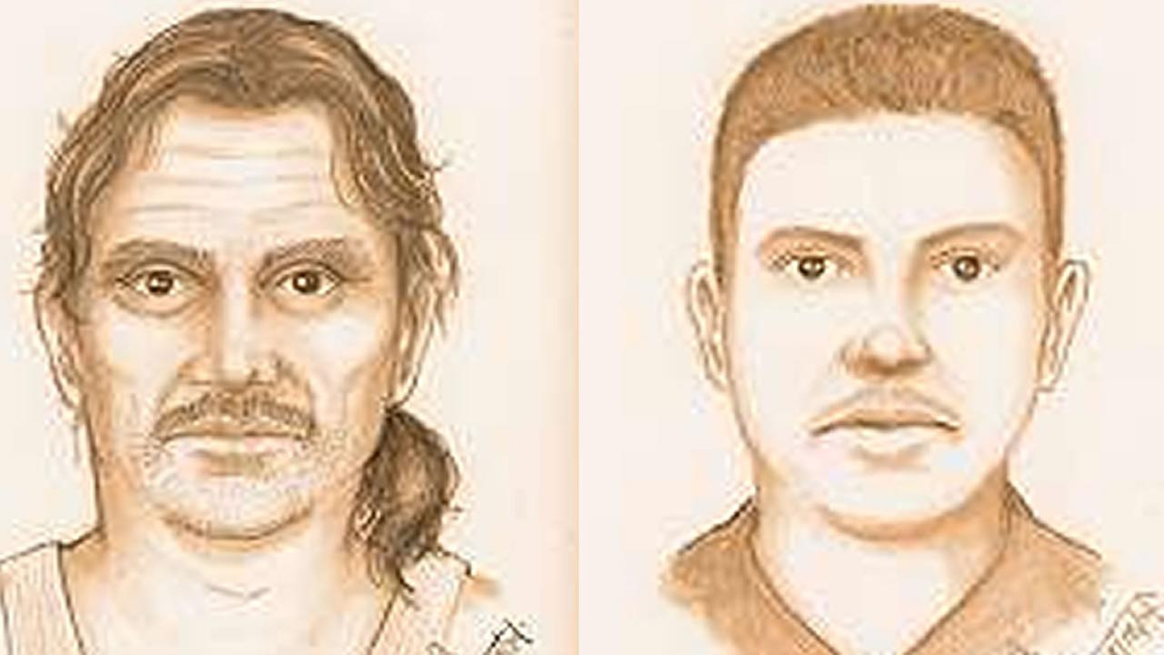 San Jose police release sketches of two men wanted for forcing a girl into a van and sexually assaulting her.