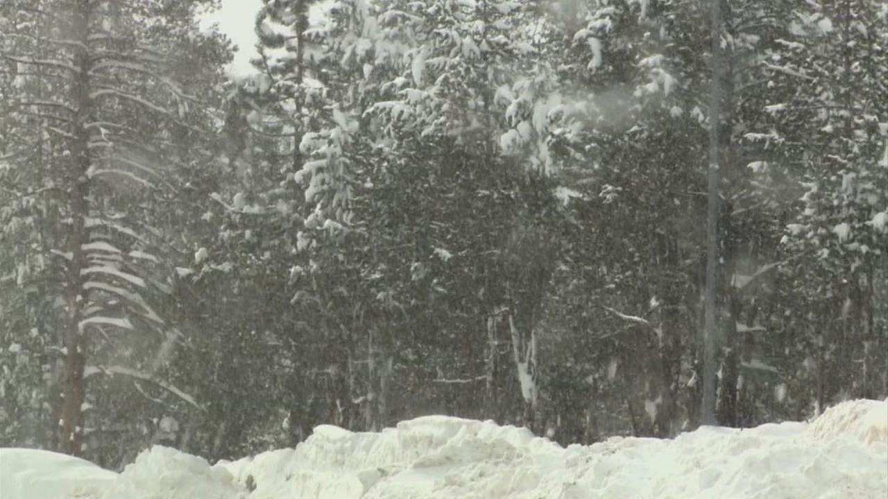 A snowstorm in California is seen in this undated image.