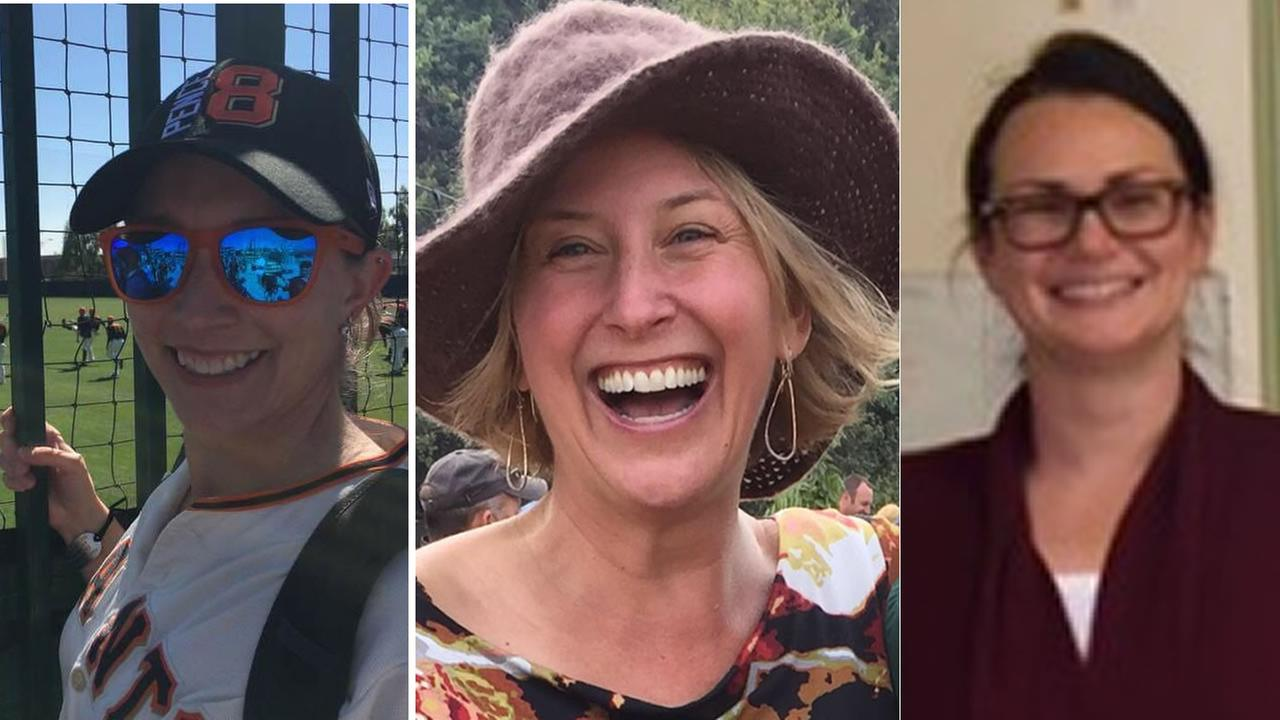 Dr. Jen Golick, Christine Loeber, and Dr. Jennifer Gonzales are seen from left to right. They were killed in the Yountville hostage situation on Friday, March 9, 2018.