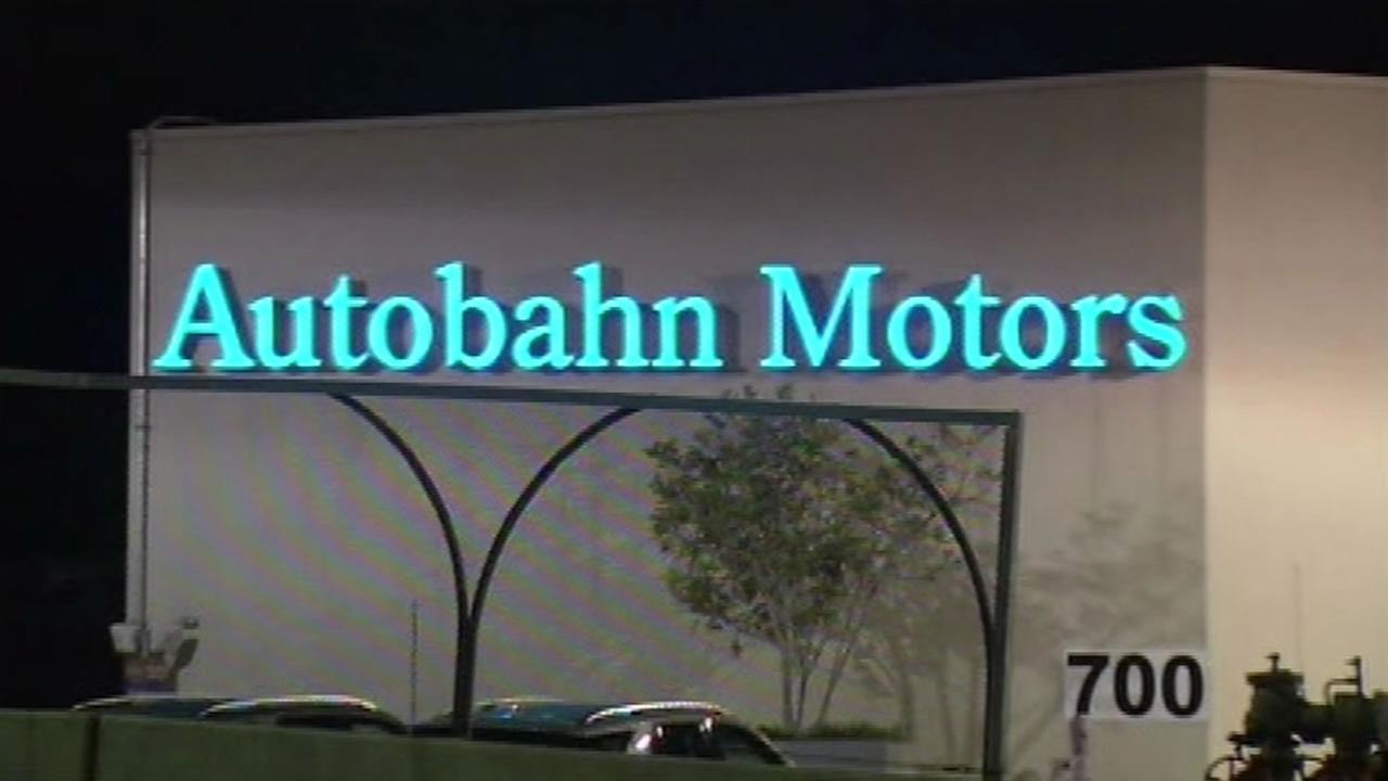 Car thieves broke into the Autobahn Motors dealership in Belmont Sunday morning and stole nine cars.