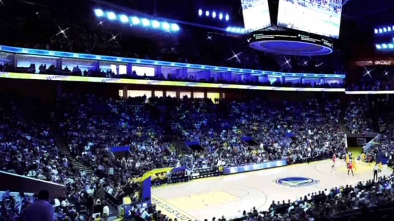 Golden State Warriors arena.