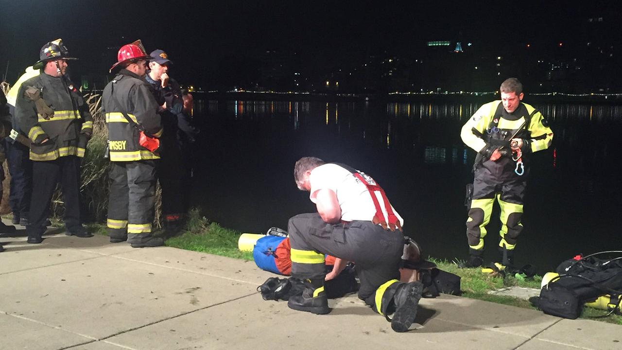Search in Lake Merritt in Oakland, California on Thursday, March 15, 2018.