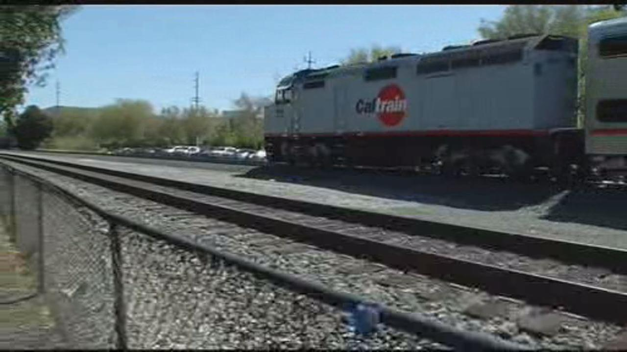 This undated image shows Caltrain going through Palo Alto.