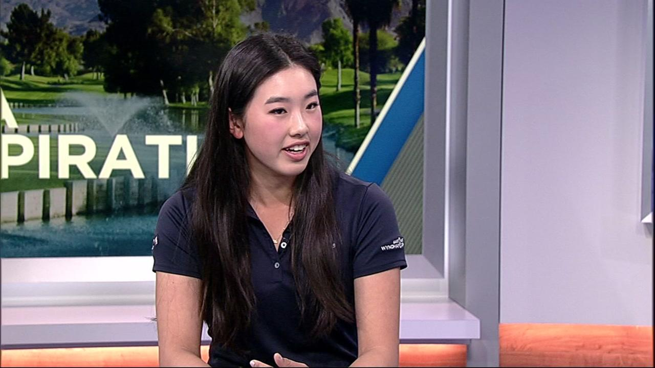 Yealimi Noh talked to ABC7 News on Tuesday about the ANA Junior Inspiration Tournament.