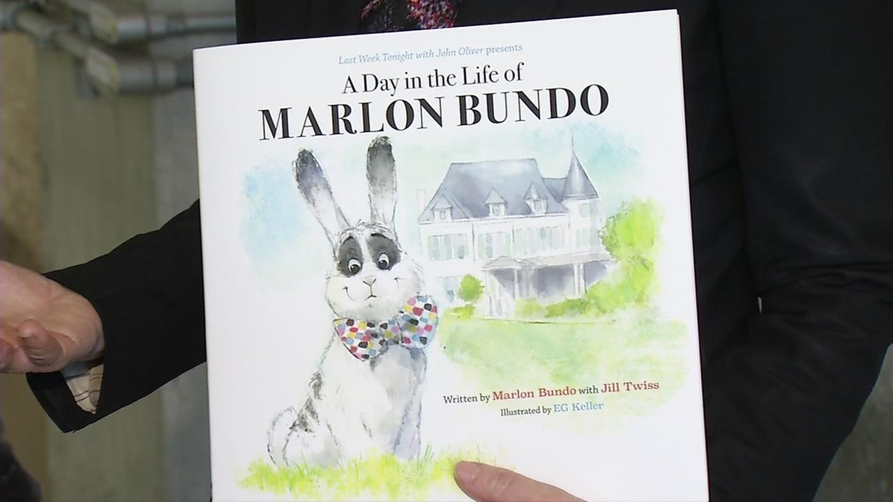 The book, A Day in the Life of Marlon Bundo appears at Chronicle Books in San Francisco on Wednesday, March 21, 2018.