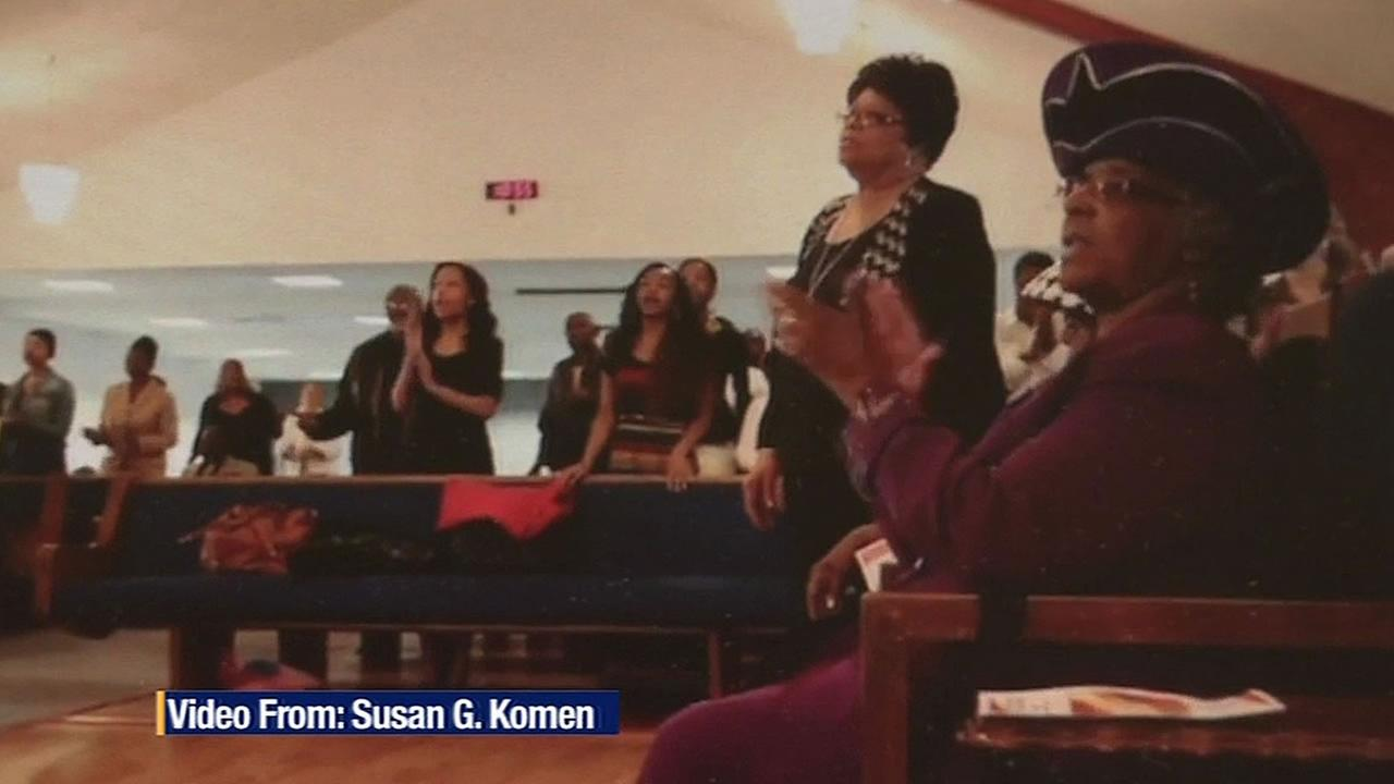 African-American women in a church