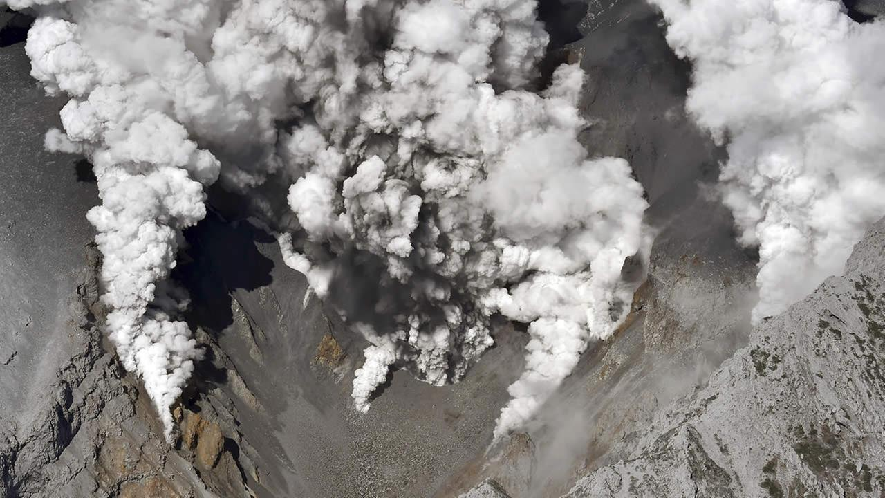 Mt. Ontake eruption in Japan, Sept. 27, 2014