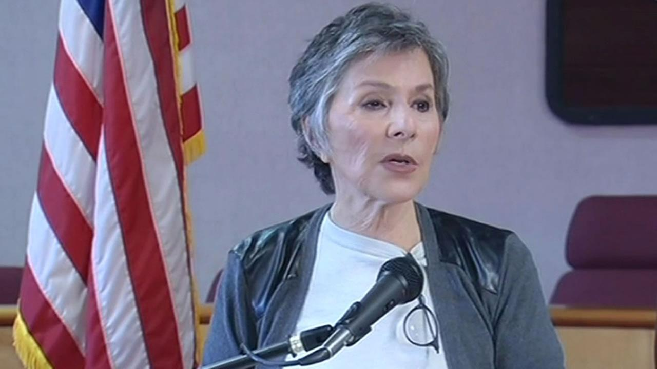 Sen. Barbara Boxer talks after tour of quake-damaged Napa.