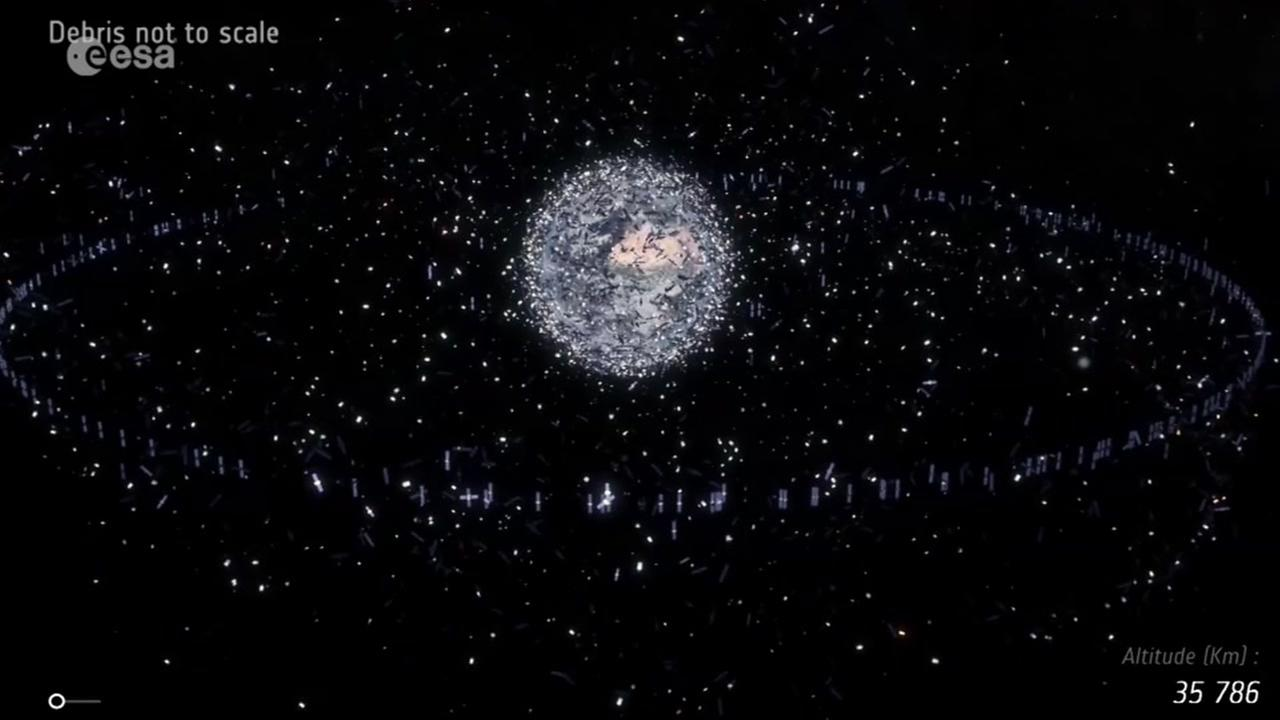 This is an undated research image of space junk.