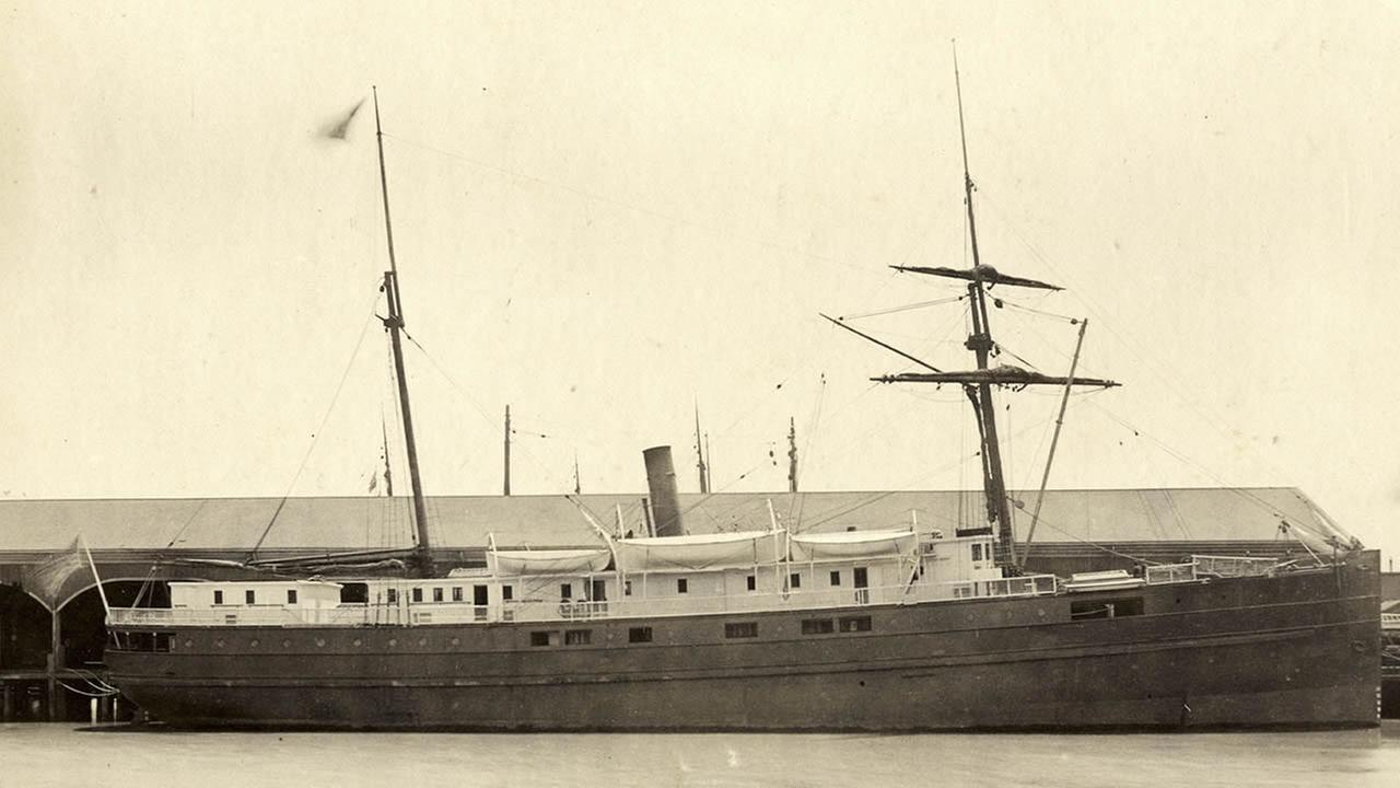 This undated image provided by the National Oceanic and Atmospheric Administration (NOAA) and San Francisco Maritime National Historic Park shows the iron and wood steamship City of Chester. In 1888, on a trip from the San Francisco bay to Eureka, the Chester was split in two by a ship more than twice its size, killing 16 people and becoming the bays second-worst maritime disaster. Now, more than a century later, a National Oceanic and Atmospheric Administration team has found the shipwreck. The team came upon the wreckage in 217 feet of water just inside the Golden Gate while it was charting shipping channels. (AP Photo/National Oceanic and Atmospheric Administration and San Francisco Maritime National Historic Park)