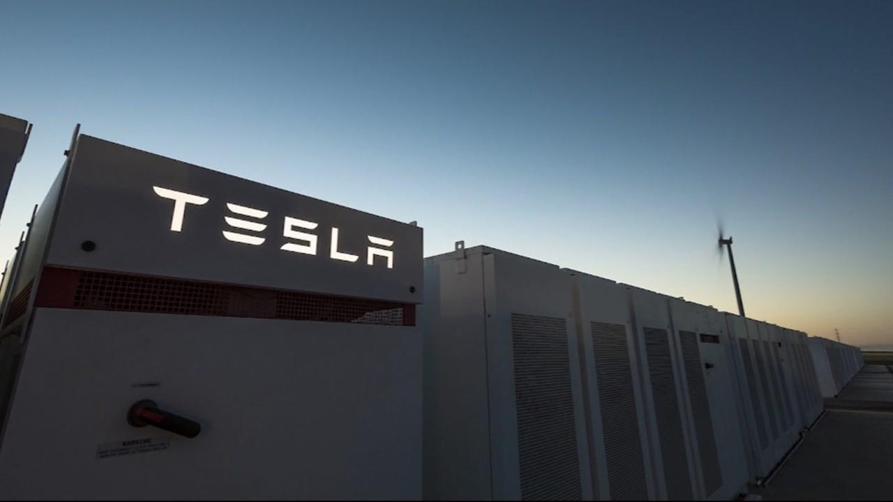 This is an undated image of a Tesla building.