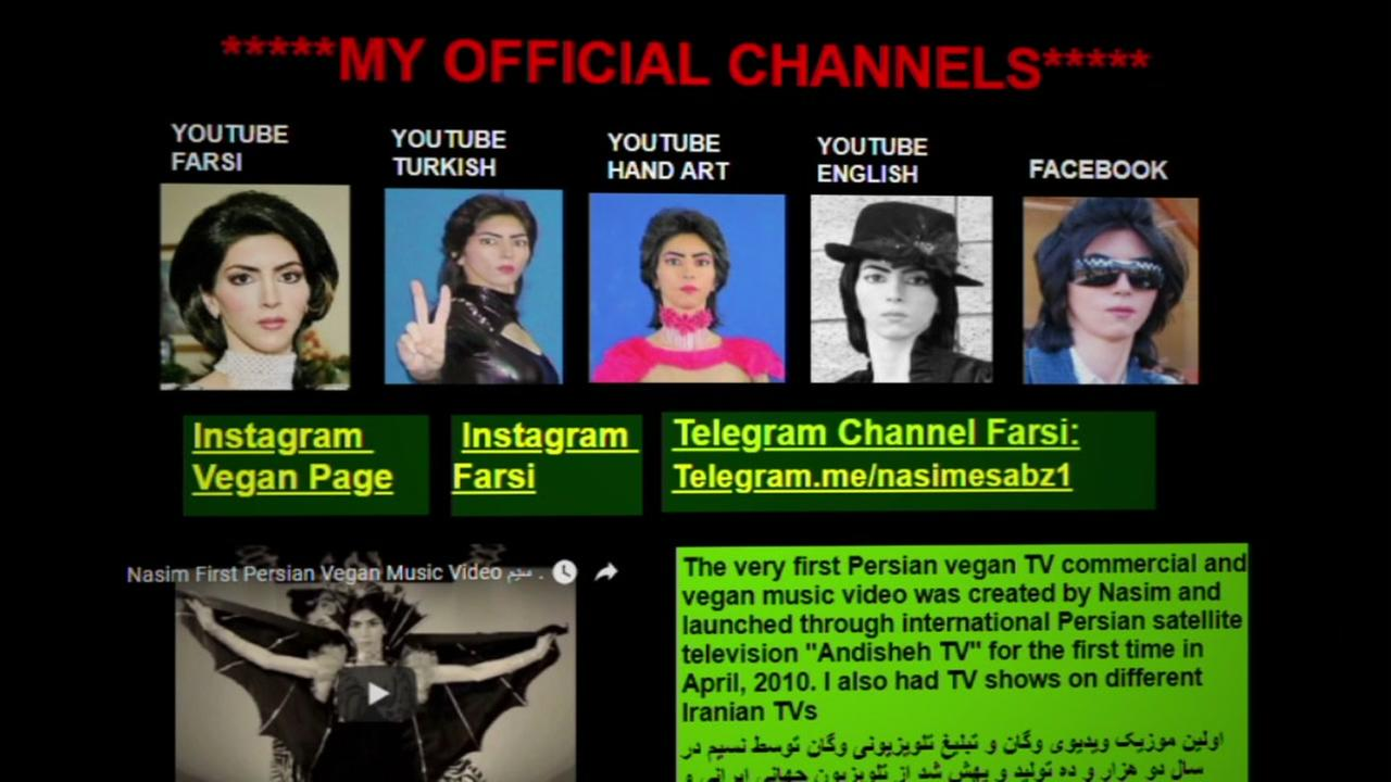 A screenshot of alleged YouTube shooter Nasim Aghdams website appears on Tuesday, March 3, 2018.