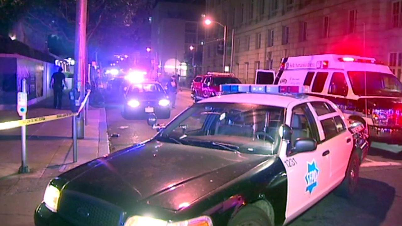 San Francisco police at scene of shooting.