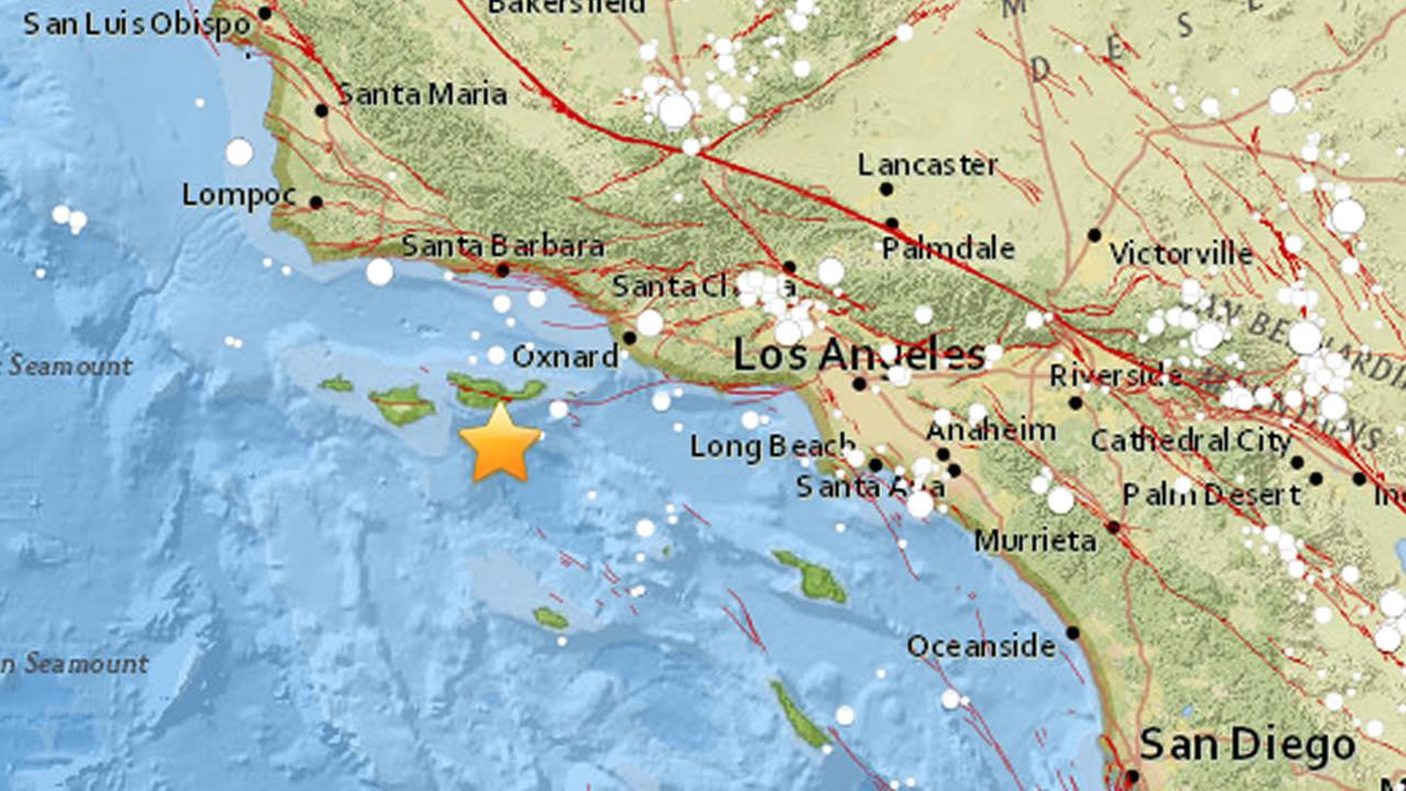 big earthquake hits near channel islands beach in socal