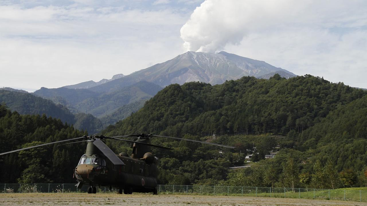 Mount Ontake continues to erupt in Otaki in Japan.