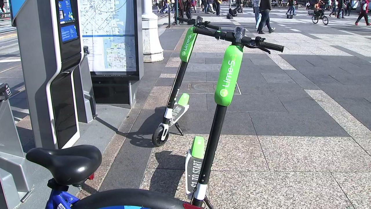 FILE -- Dockless scooter in San Francisco
