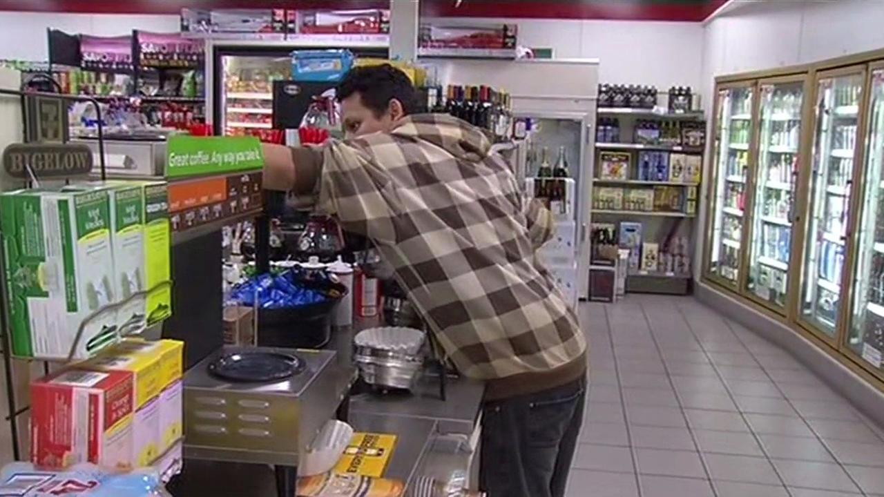Convenience store worker