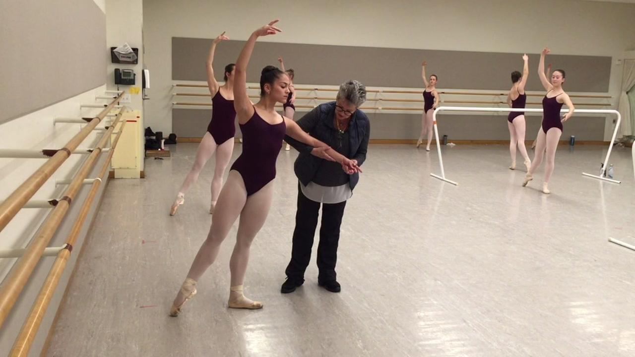 Iris Rocio Davila practices ballet in San Francisco on Tuesday, April 10, 2018.