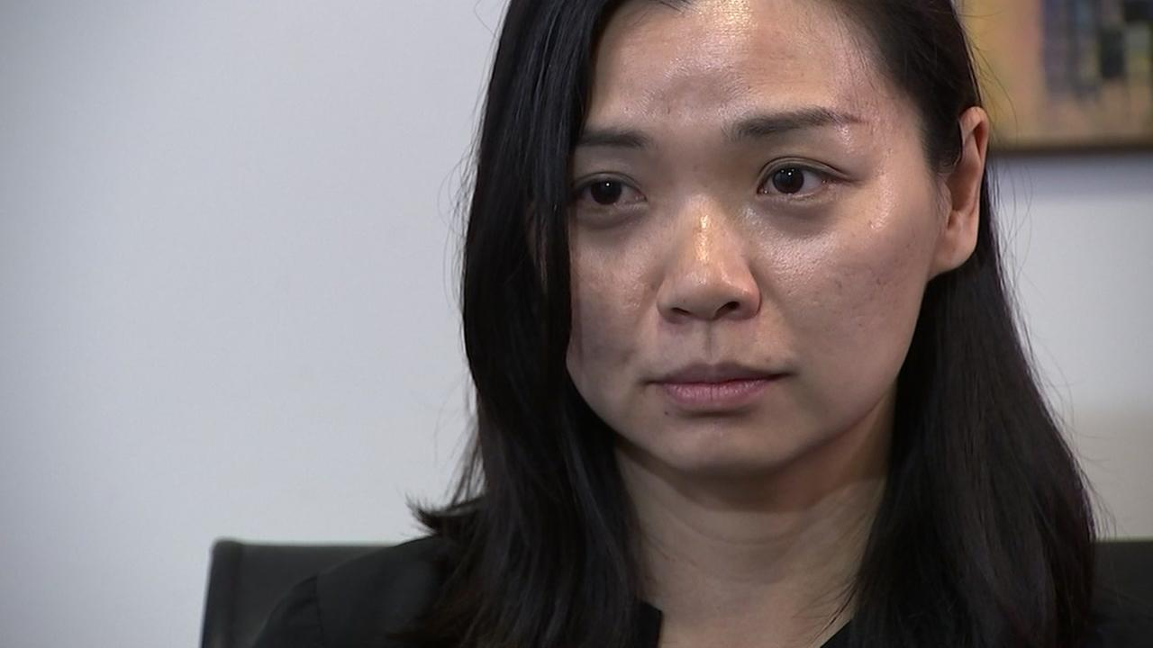 The wife of a man killed in a Tesla crash gives her first interview to the ABC7 News I-Team on Tuesday, April 10, 2018.
