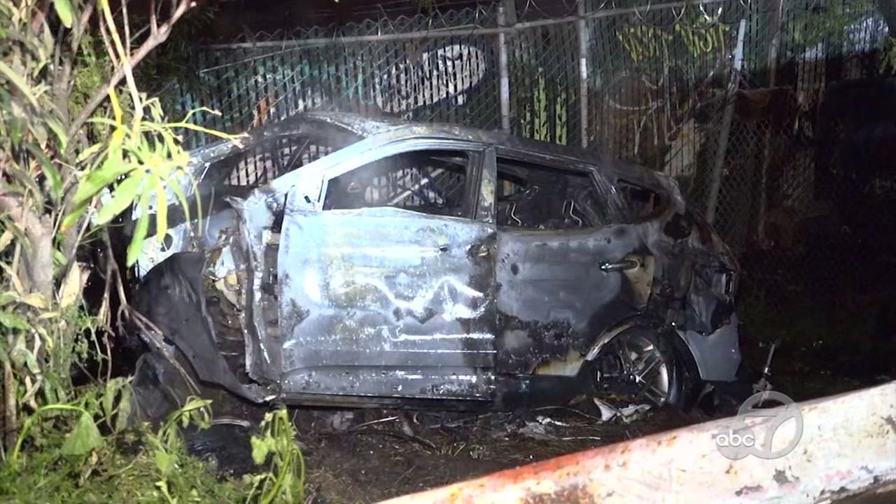 Scene of crash in San Jose, California on Wednesday, April 11, 2018.