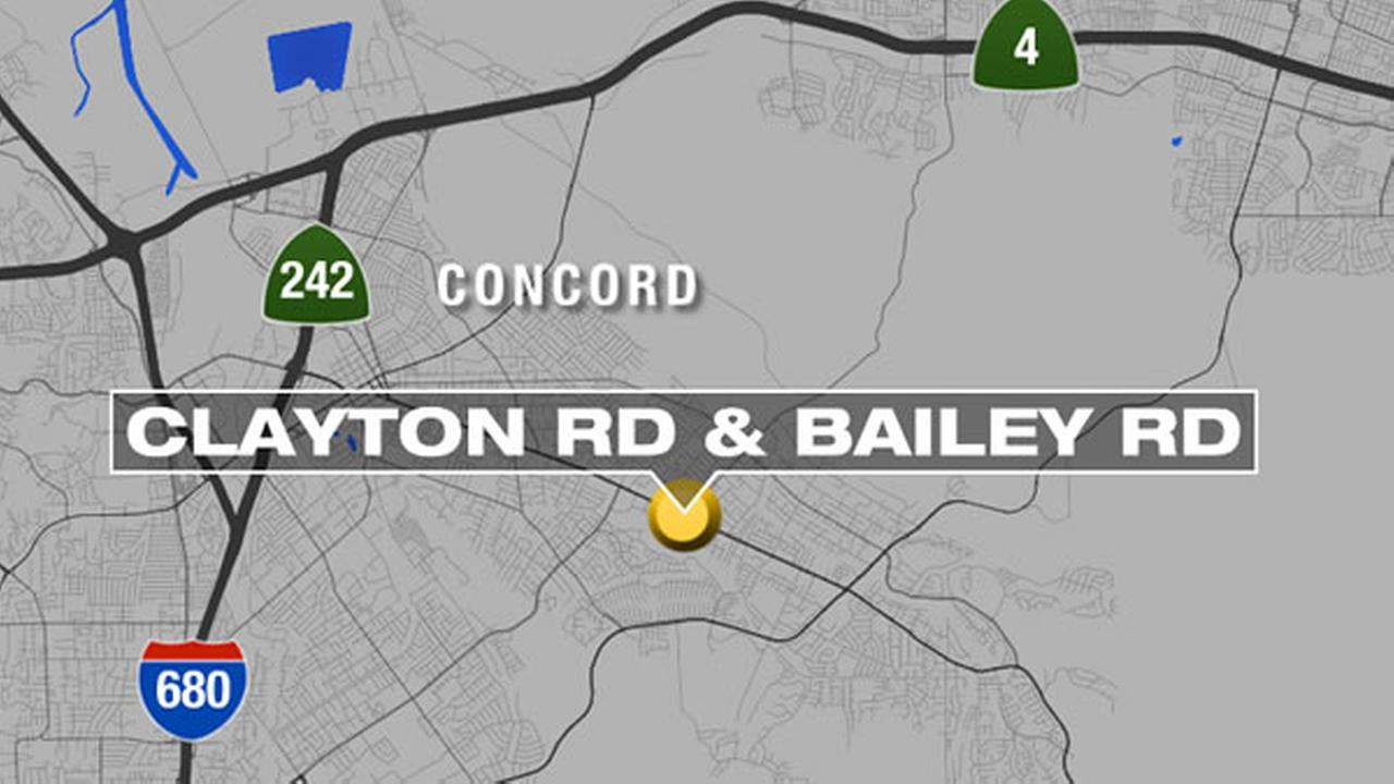 A 59-year-old man died this morning when he crossed a busy Concord intersection and was struck by a car.