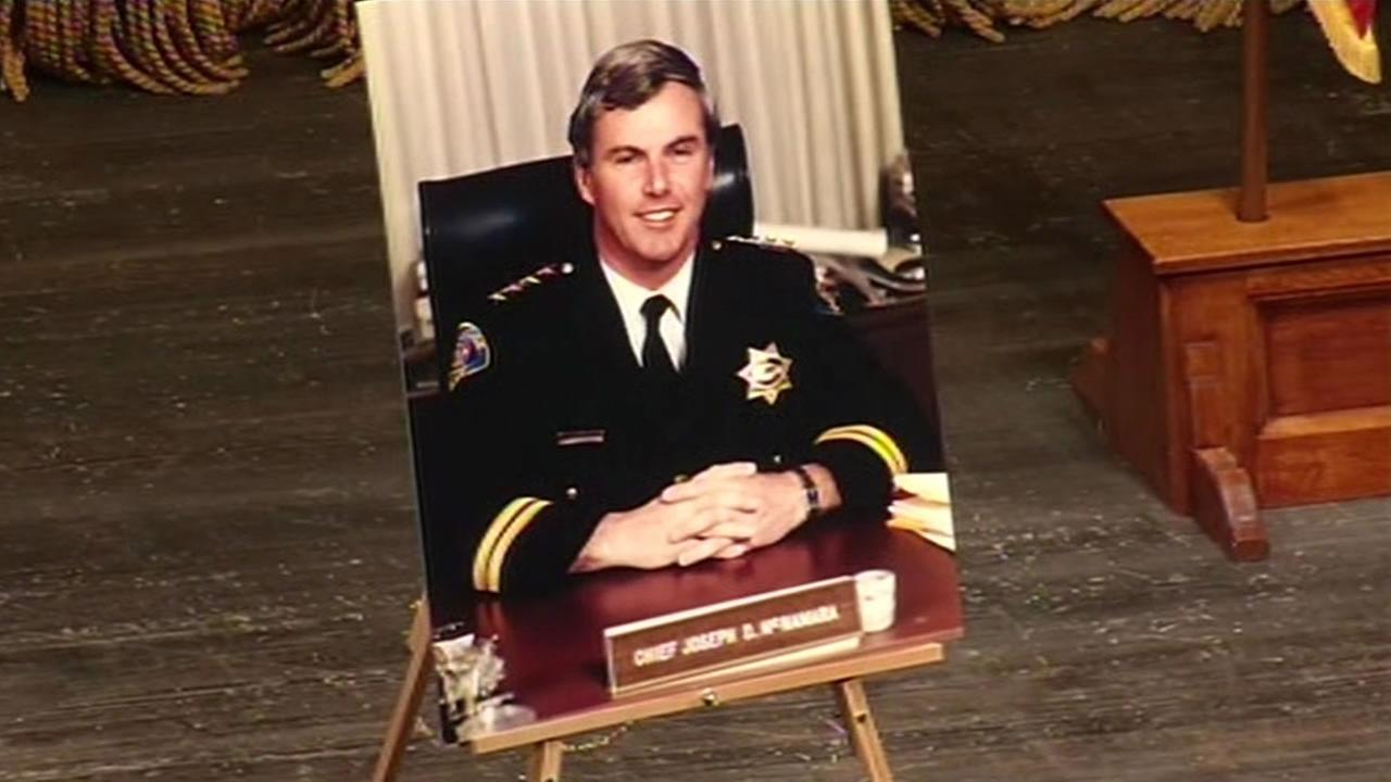 A public memorial service was held at the California Theatre in San Jose for former San Jose Police Chief Joseph McNamara.