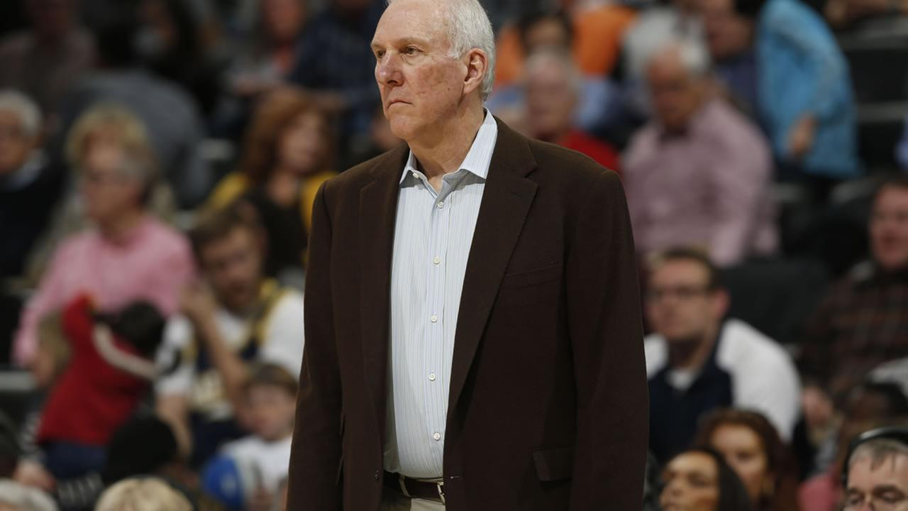 Spurs coach Popovich to miss game three after death of wife