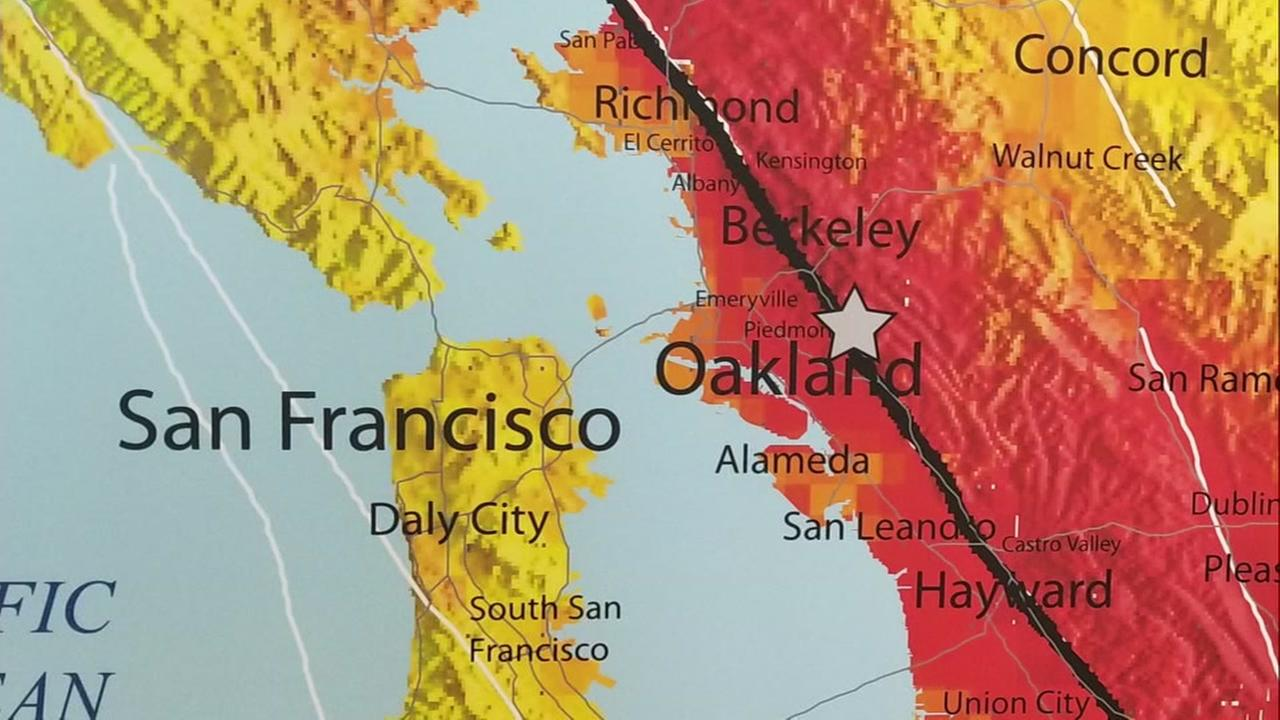 The Hayward Fault is marked on a map.