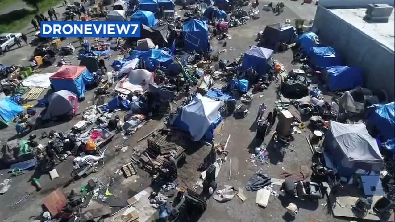 DRONEVIEW7 was over a homeless encampment in Santa Rosa, Calif.