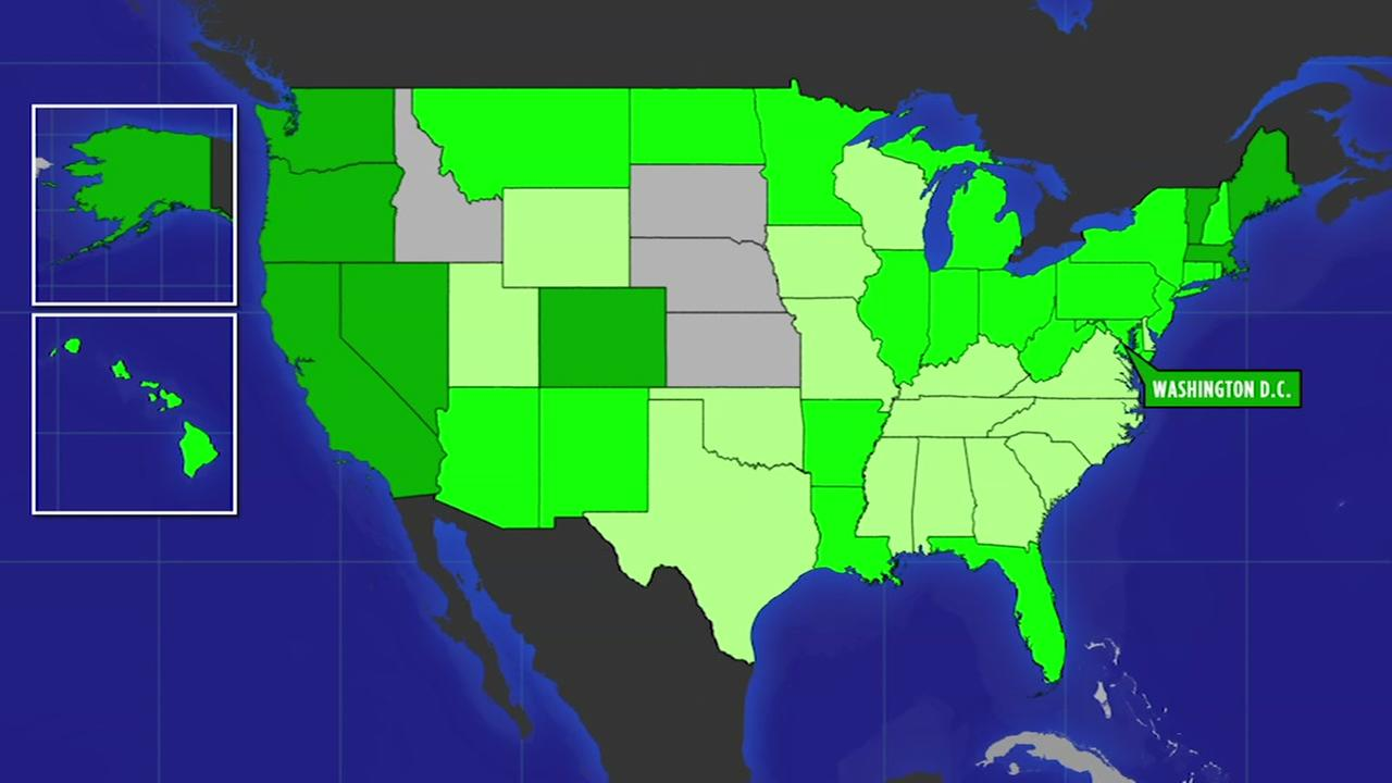 Heres a map showing where cannabis legalization started and where it went from there.