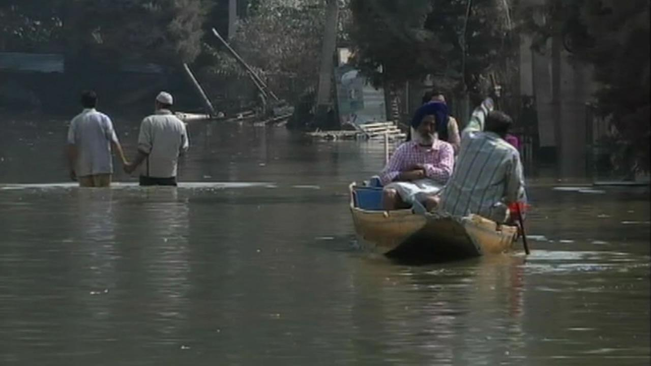 Flooding in Kashmir.